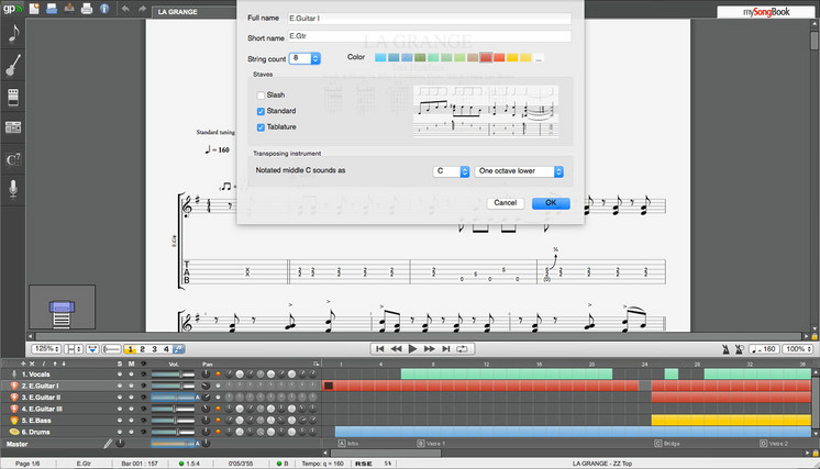Guitar guitar tablature notes : Discover all of the Guitar Pro 6 features